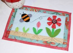 Gardening with the Patchsmith (from her Hobby mug rug pattern book)