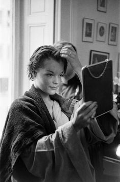 Romy Schneider in 'That Most Important Thing:Love' (L'important c'est d'aimer gif ile ilgili görsel sonucu Romy Schneider, Magda Schneider, Marilyn Monroe, French Movies, Guy, Alain Delon, French Actress, Jolie Photo, Black And White Pictures