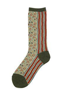Calico Socks  via WEB SHOP - KAPITAL Sock Hop, Alexander Mcqueen, Personal Style, Men's Fashion, Socks, Guys, My Style, How To Wear, Accessories