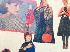 1980s, Dog Roth, Herringbone, Red and Black fashions UK
