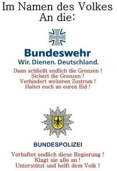 Im Namen des Volkes an die Bundeswehr und die Bundespolizei
