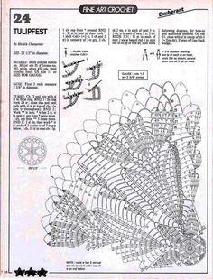 Crochet Monthly 103 - Lita Z - Picasa Web Albums Crochet Doily Diagram, Crochet Doily Patterns, Crochet Chart, Crochet Motif, Crochet Round, Crochet Books, Crochet Home, Thread Crochet, Crochet Dollies