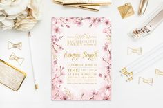 Hey, I found this really awesome Etsy listing at https://www.etsy.com/listing/251007532/cherry-blossom-invitation-bachelorette