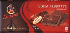 Sarotti Edel-Halbbitter Schokolade Group Meals, Happy Women, Kakao, A Food, Candy, Snacks, Childhood Memories, German, Coffee