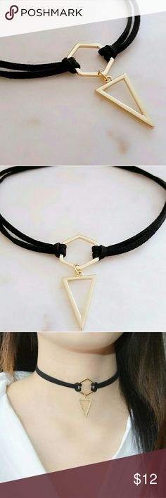 Black Leather Choker Brand New Leather Choker  Hot Fashion No Trades.  Please be considerate when making an offer.   For all sales under $15, Poshmark takes a flat commission of $2.95. You keep the rest. For sales of $15 or more, you keep 80% of your sale and Poshmark's commission is 20%. Once your sale has been delivered and received by your buyer, the earnings from your sale are yours. Jewelry Necklaces