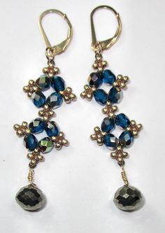 FREE Project: Easy-Peasy Earrings.  20 minutes from Jill Wiseman ~ Seed Bead Tutorials