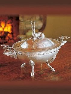 The Enchanted Home | Silver stag tureen