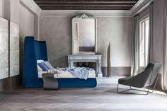 Bed BASKET ALTO/ side table DUFFY/ armchair ALFIE  by BONALDO (www.bonaldo.it)