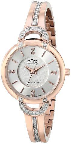 Burgi Women's BUR105RG Analog Display Swiss Quartz Rose Gold Watch * See this great image