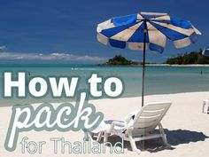 Thailand packing list: what to pack for a trip to Thailand? From toiletries to a wallet full of Thai baht Thailand Vacation, Thailand Honeymoon, Phuket Thailand, Thailand Travel, Asia Travel, Travel Tips, Honeymoon Trip, Thailand Wedding, Bangkok