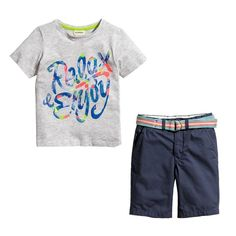 Mudkingdom Little Boys' Quotes T-shirt + Pants Outfits Kids Clothing Sets US Size 4T