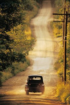 Country Road in Summer - Riding down a country road in the pickup truck with natures air conditioning. Description from pinterest.com. I searched for this on bing.com/images