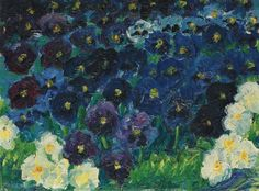 The Blue Flowers Artist: Emile NoldeYear: 1908Type: Oil on canvas
