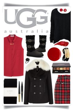 """""""Boot Remix with UGG : Contest Entry"""" by ittie-kittie on Polyvore featuring Balenciaga, MANGO, UGG Australia, Filles à papa, J.Crew, Charlotte Tilbury, Yves Saint Laurent, By Terry, RGB and Anne Klein"""