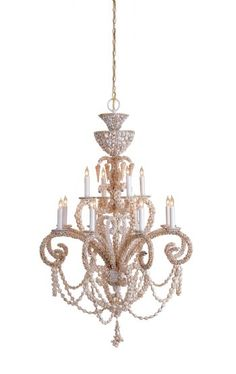This stunning shell chandelier has hung in my dining room for years.  I just love it.....