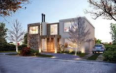 Estudio NF y Asociados House Elevation, Dream House Plans, Prefab Homes, Beautiful Architecture, Home Fashion, Exterior Design, Luxury Homes, My House, Sweet Home
