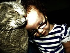 She has special needs, and they weren't sure how she'd react to a cat. This is what happened.