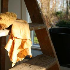 Natuurlijke zeem en spons voor het lappen van je ramen