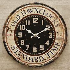 ★40cmのビッグサイズ時計!★ レトロ調 ★ アンティークエンボス クロック ★ STANDARD TIME 2 壁掛け時計 時計 看板