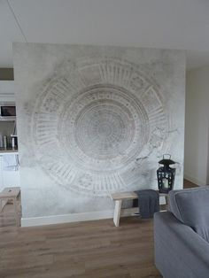 wall and deco tapete papier peint mandala #wallanddeco #mandala
