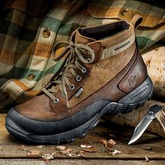 Neither Snow, nor Rain, nor Sleet, nor Slush Can Get To Your Feet in Merrell's Rugged Precip Collection!