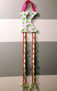 Initial Ribbon Headband Organizer. $27.95, via Etsy.