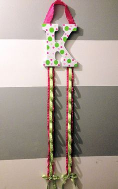 Initial Ribbon Headband Organizer. $27.95, via Etsy.
