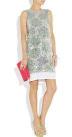 Diane Von Furstenberg sequined printed silk dress