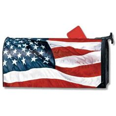 Stars and Stripes 4th of July Magnet Mailbox Cover -- Visit the image link more details. (This is an affiliate link) #Hardware