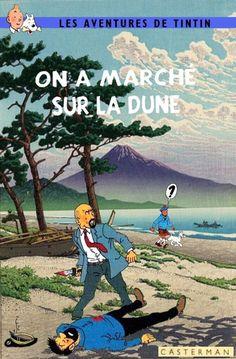Les Aventures de Tintin - Album Imaginaire - On a Marché sur la Dune