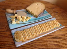 Cheese Board and Cracker Dish Set SouthWest Colors by Smokeylady54