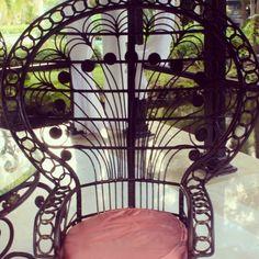 Spanish revival peacock chair