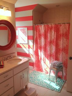 really cool bathrooms for girls. White Room, Colored Ceiling (would Look Really Cool If It Was Purple Or Turquoise, But That Is Just Personal Preference)   Interiors Pinterest Room Bathrooms For Girls