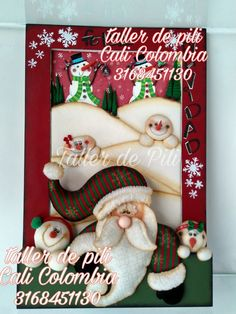 Frame, Decorating Ideas, Inspiration, Patterns, Country, Home Decor, Xmas, Tela, Christmas Paintings