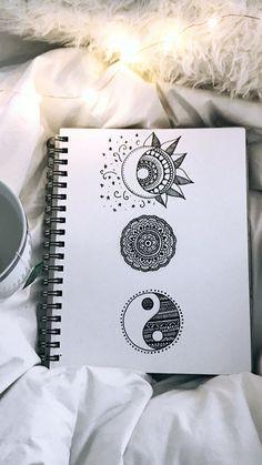 62 ideas zentangle art dibujos mandalas for 2019 Mandala Doodle, Doodle Art Drawing, Zentangle Drawings, Cool Art Drawings, Pencil Art Drawings, Art Drawings Sketches, Mandala Tattoo, Cute Drawings Tumblr, Zentangle Art Ideas