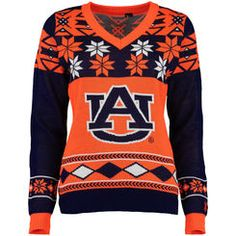 35376325 Auburn Tigers Ugly Christmas V-Neck Sweater Officially Licensed  auburnloveitshowit.com Auburn T Shirts
