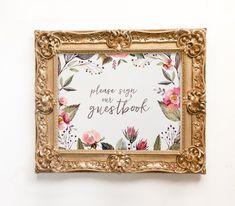 guest book sign wedding printable printable guest book by Foxbairn Guest Book Table, Guest Book Sign, Wedding Guest Book, Funeral Spray Flowers, Wedding Stationery, Wedding Invitations, Romantic Anniversary, Floral Wedding Decorations, Flower Spray