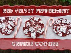 Red Velvet Peppermint Crinkle Cookies - Christmas Cookies