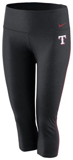 Texas Rangers Nike Womens Black Dri-FIT Capri