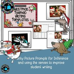 Christmas Writing Templates with stimulus pictures Christmas Writing, Inference, Scaffolding, Story Template, Students, Templates, Teaching, Pictures, Casual