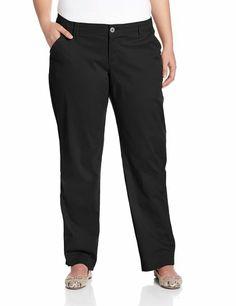 Lee Women's Plus-Size Comfort Waist Carden Slimming Straight Leg Pant, Black, 20W Medium