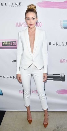 Gigi Hadid at the Maybelline New York 100th Anniversary Party in Canada, June 2015.