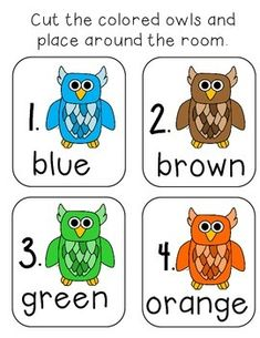 If you liked this check out mini color word booklets ! Color Word Booklets-Snowy the Rainbow Owl Enjoy this color word freebie!Write the room is differentiated. Owl Writing, Christian Bulletin Boards, World Teachers, Green And Orange, Booklet, Classroom Ideas, Kindergarten, Canning, Reading