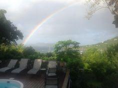 St. John USVI rainbow over Great Cruz Bay Rainbow, River, Outdoor, Rain Bow, Outdoors, Rainbows, Outdoor Games, The Great Outdoors, Rivers