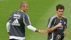 Casillas invita a Beckham a visitar su pueblo: Very very cold come to Navalacruz!
