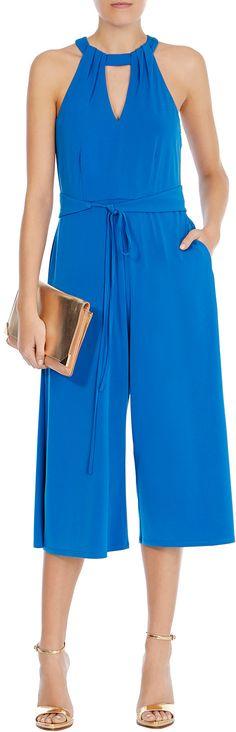 Womens chinese blue kenya wide leg jumpsuit from Coast - £95 at ClothingByColour.com