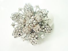 Snowflake Winter Theme Wedding Brooch