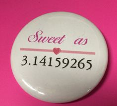 PI Day buttons by BellyLaughButtons on Etsy