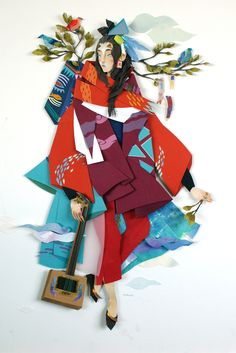 Paper Artworks by Morgana Wallace : Morgana Wallace is a Canadian artist that creates colorful three-dimensional illustrations using layers of cut paper with additional details added in watercolor and gouache. More paper art via Trend Hunter Kirigami, Art Design, Paper Design, Arte Peculiar, Book Art, Cut Paper Illustration, Illustration Artists, Art Du Collage, Collage Artists