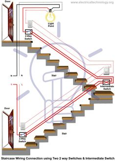 What is Intermediate Switch – Its Construction, Working & Uses in Electrical Wiring What is Intermediate switch, its construction, working principle & application in different wiring circuits i.e lighting Circuits, Switching Operation etc. Basic Electrical Wiring, Electrical Circuit Diagram, Electrical Layout, Electrical Plan, Electrical Switches, Electrical Projects, Electrical Installation, 3 Way Switch Wiring, Electronics Basics